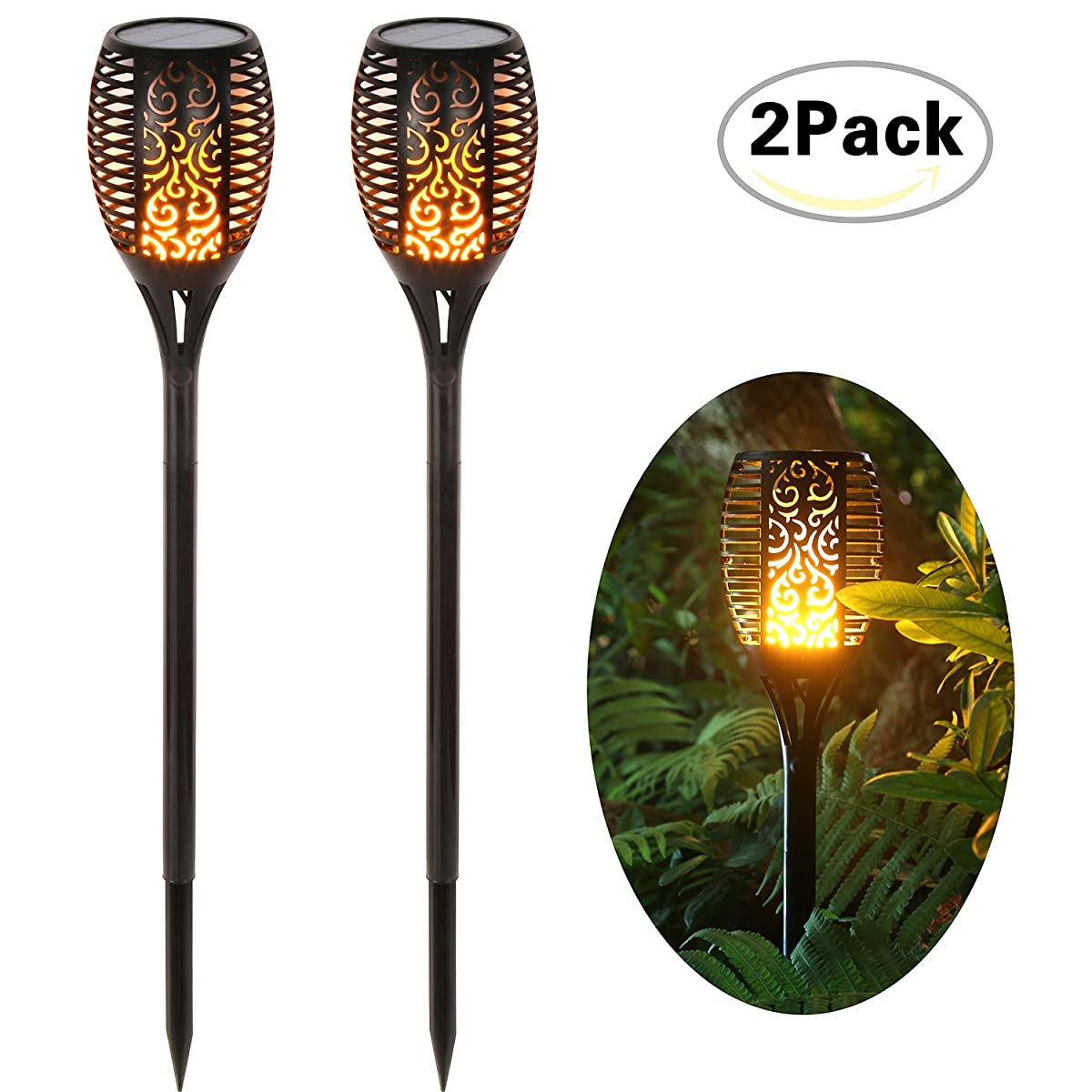 Solar Lights Dancing Flames Balight LED