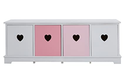 Premier Housewares Olivia - Banco, 4 cajones, multicolor