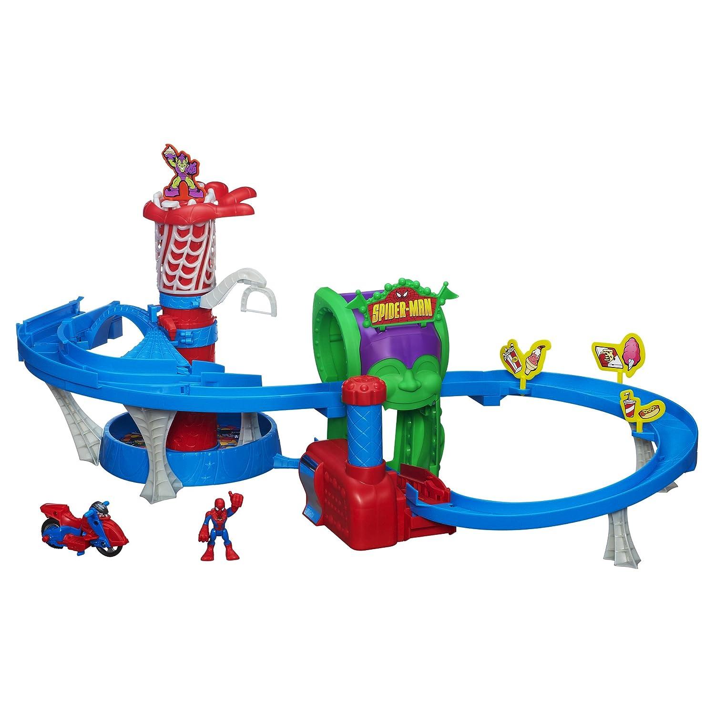 Playskool Heroes Marvel Spider Man Adventures Web Racing Funhouse Playset, Seekyt