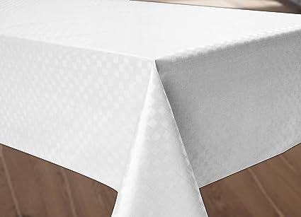 wachstuch tischdecke abwaschbar rund 140 cm weiss da539. Black Bedroom Furniture Sets. Home Design Ideas