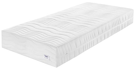Sogno notte 03892680134XXL de Luxe 7Zone Materasso in schiuma fredda con gel Visco schiuma cuscino, Cotone, Bianco, 200x 120x 25cm
