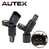 AUTEX 2PCS ABS Wheel Speed Sensor Rear Left & Right ALS522 compatible with Volkswagen Beetle 1998-2010 & Golf 1999-2006 & Jetta 1999-2005/Audi TT 2000-2006