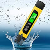 Digital Pool Water Test Kit, Professional 3 in 1 Temperature EC & TDS Meter for Drinking Water Hardness Testing, Aquarium Hydroponics Swimming Pools Tester, Accurate and Reliable, Measure 0-9999 ppm (Color: Pic)