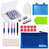 Mlife 5D Diamond Painting Tools and Accessories Kit, 31 Pieces DIY Diamond Painting Accessories with 28 Slots Diamond Storage Box, Apply to Full Drill & Partial Drill 5D Diamond Painting