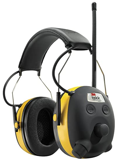 3M TEKK WorkTunes Hearing Protector, MP3 Compatible with AM/FM Tuner