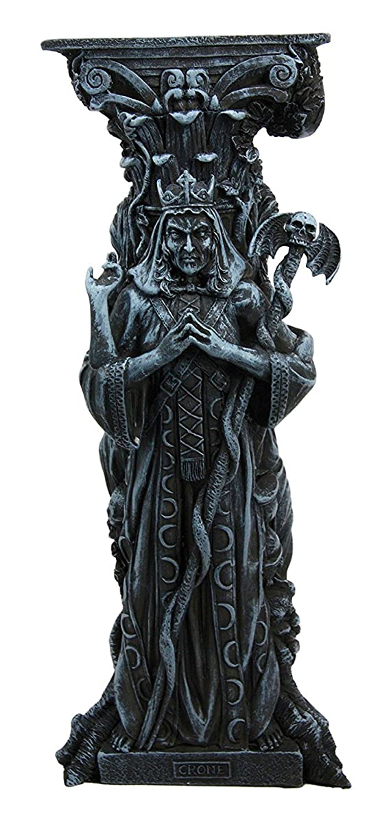 Atlantic Collectibles Triple Goddess Maiden Expectant Mother & Crone Pagan Worship Decorative Candle Holder Figurine