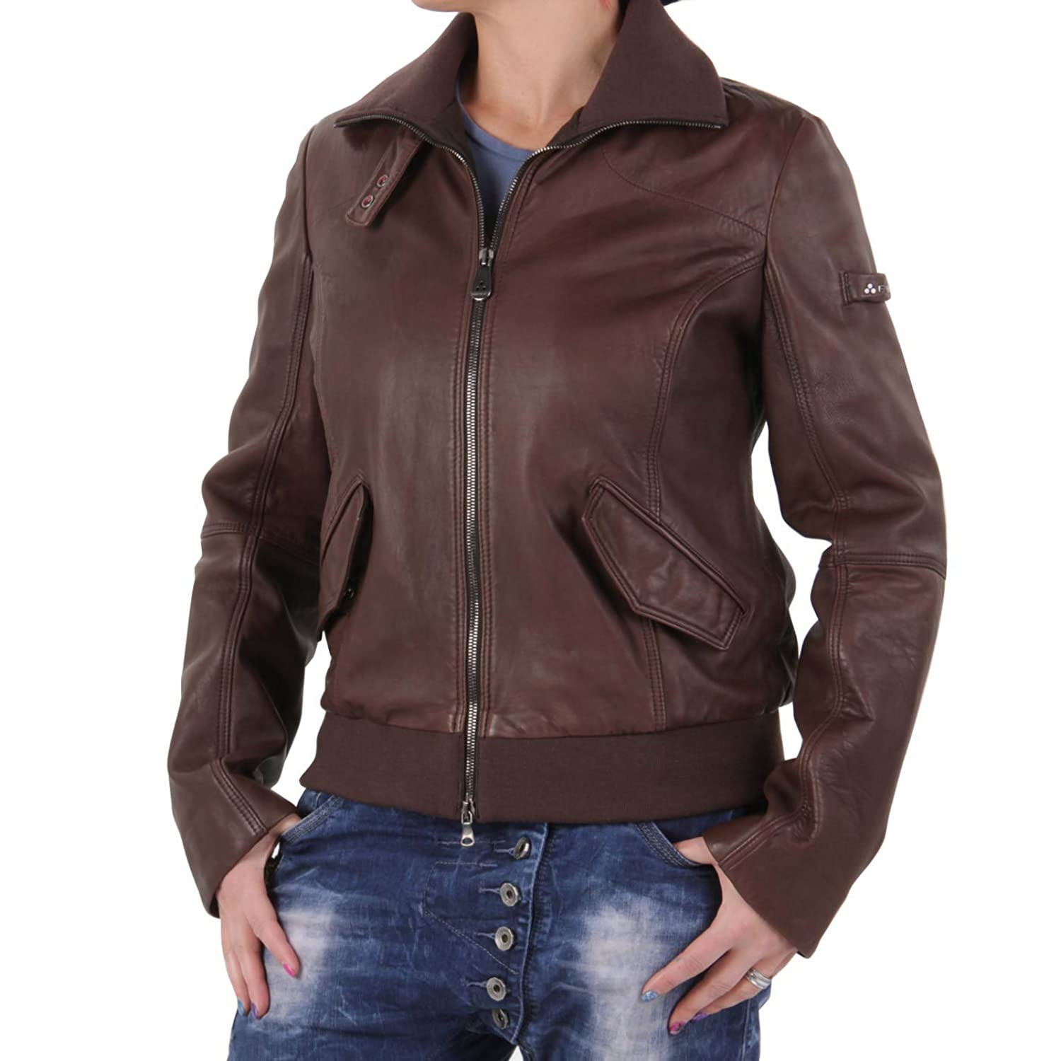 PEUTEREY Damen Winter Lederjacke Stephany Brown PED0700 2. Wahl kaufen