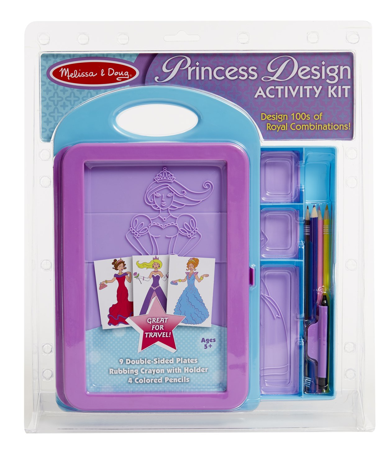 Barbie Fashion Plates Rub Coloring Melissa amp Doug Princess Design