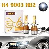 H4 9003 HB2 LED Headlight Bulbs 12000LM 120W Hi/Lo Dual Beam Conversion Kit 6000K Cool White Plug & Play COB Chips Super Bright - 2 Yr Warranty (Pair)