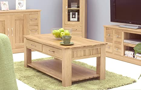 Oakworld North Bay Oak Four Drawer Coffee Table