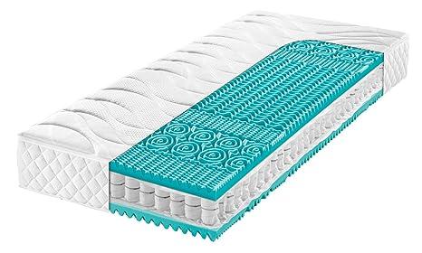 f.a.n. Frankenstolz Dream sleepz T 7-Zonen Tonnentaschenfederkernmatratze 90x200 H3 TTFK Matratze, hohe Punktelastizität und optimaler Körperanpassung, Bezug waschbar bis 60 °C