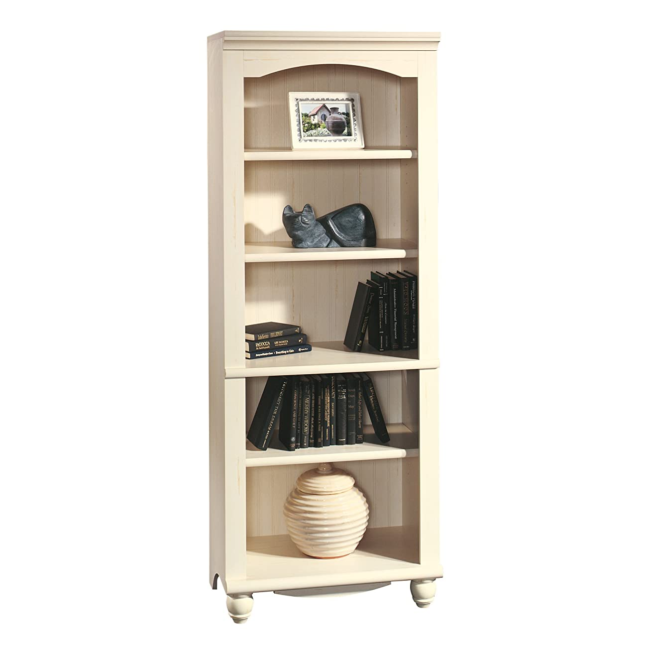 Sauder Harbor View Library, Antiqued White 0
