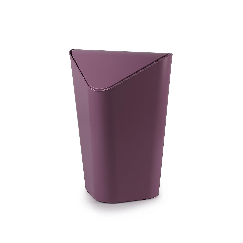 Umbra 086900-723 Cans und Bins Corner Mülleimer mit Schwingdeckel, Abfalleimer, Müllsammler, Papierkorb, Kunststoff, Aubergine bestellen
