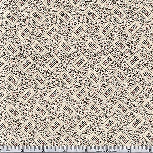 45'' Wide Classic Conversationals Musical Score Natural Fabric By The Yard