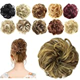 FESHFEN Synthetic Hair Bun Extensions Messy Hair Scrunchies Hair Pieces for Women Hair Donut Updo Ponytail (Color: A26- 86h10 Blonde & Medium Brown, Tamaño: Normal)
