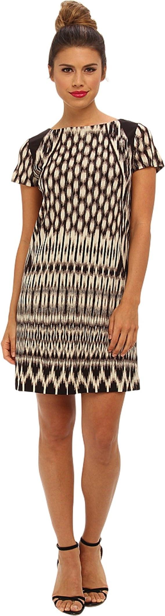 Nicole Miller Women's Temple Ikat Short Sleeve Dress