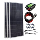 ECO-WORTHY 500W Polycrystalline Solar Panel Kit for Home Off Grid: 3pcs 150W Poly Solar Panels+Solar Panel Charge Controller+Solar Cable+MC4 Branch Connectors Pair+Solar Panel Mounting Brackets (Color: Poly w/ PWM controller, Tamaño: 500W)