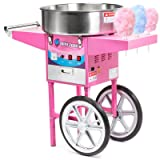 Olde Midway Commercial Quality Cotton Candy Machine Cart and Electric Candy Floss Maker - SPIN 2000 (Tamaño: With Cart)