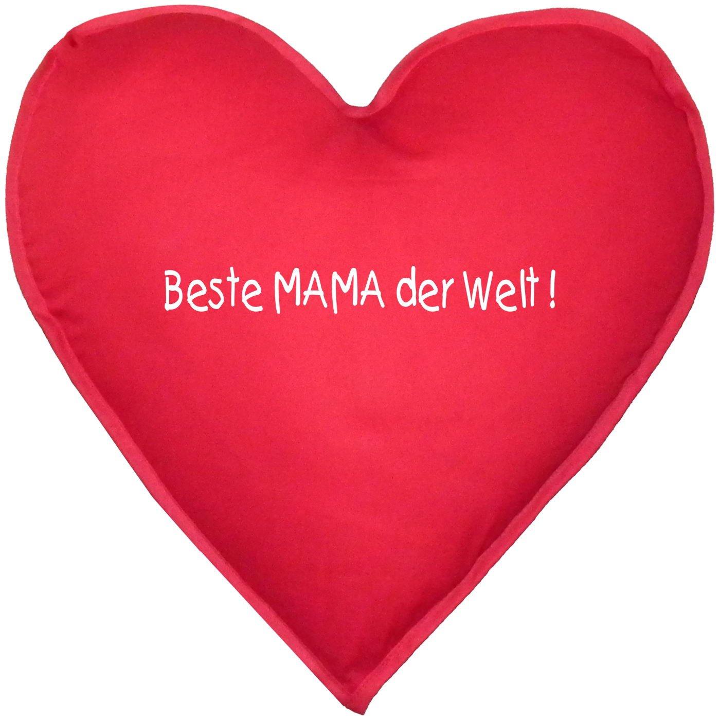 Liebevolles Kissen in Herzform! Beste Mama der Welt Schönes Geschenk! ca. 40x40cm günstig bestellen