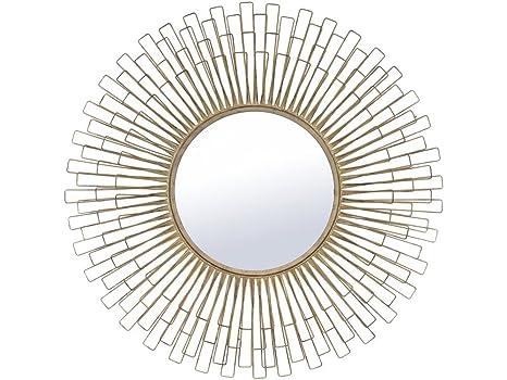 Daphne Golden Wire Petals Mirror
