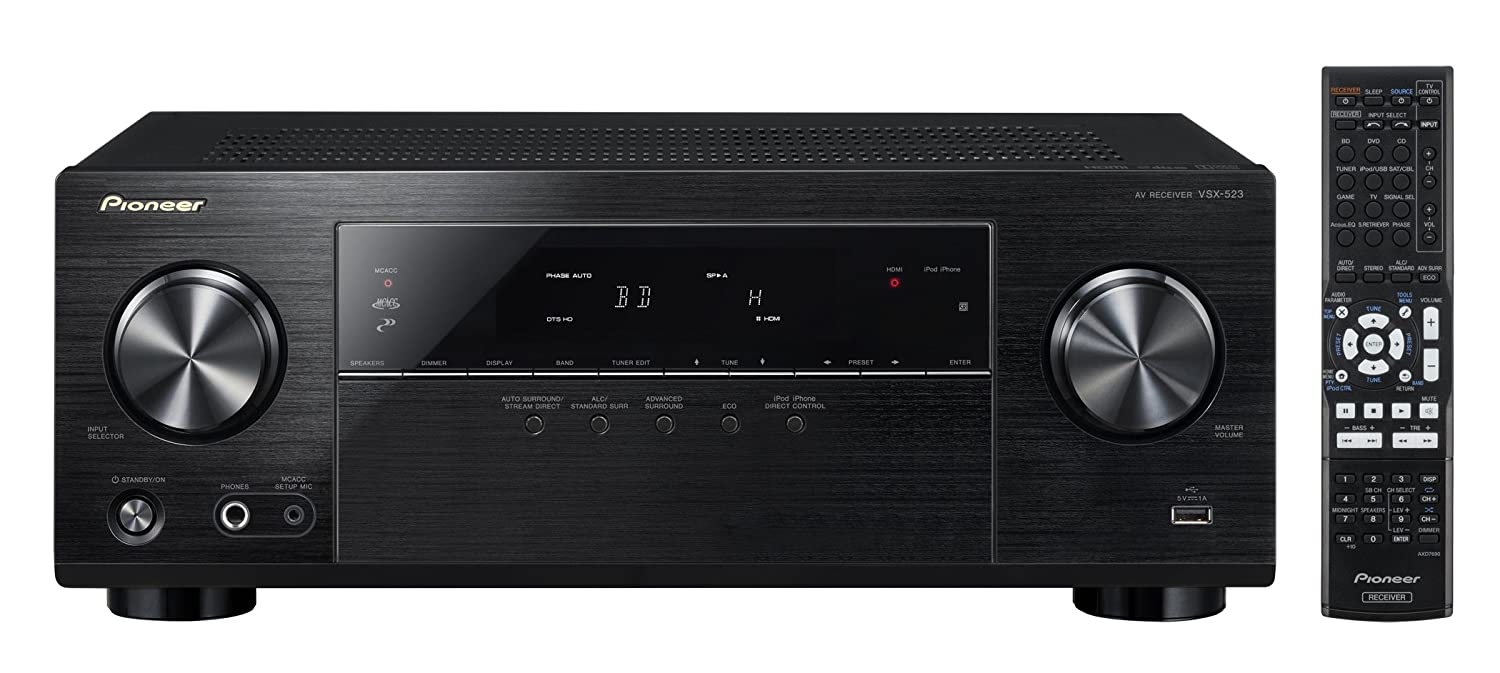 Pioneer Channel AV Receiver, VSX-523