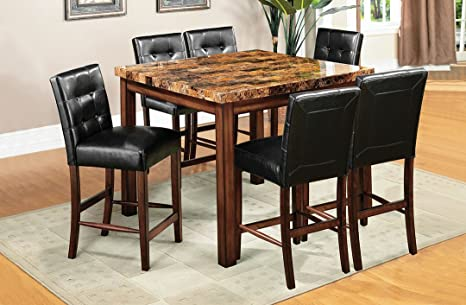 """Original 44"""" Square Counter Ht. Table Transitional Style"""