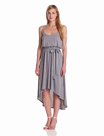 Bobi Women's Sleeveless High-Low Hem Dress, Yacht, Small at Amazon