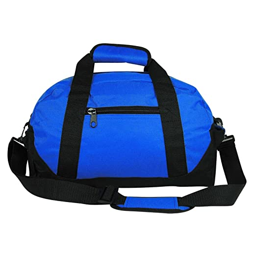 14″ Small Duffle Bag Two Toned Gym Travel Bag in Royal Blue