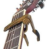 Capo Guitar Capo-Quick Change Trigger Capo for 6-String Acoustic & Electric Guita and Ukulele (Color: Ma-12 Mahogany Color, Tamaño: Mahogany color)