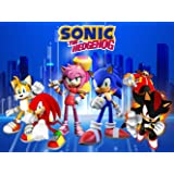 Sonic Backdrop, for Party Supplies, Decorations, Birthday, Photography, Background, Cartoon, Kids, Banner, Photo Booth Props (Color: Sonic)