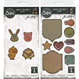 Tim Holtz Sizzix Thinlit Sidekick Side Order Sets - Critters and Noted