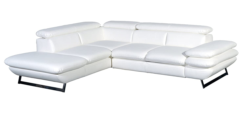 Cotta C733896 D200 Polsterecke Lederimitat, weiß, 223 x 265 x 74 cm