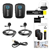2.4GHz Wireless Microphone System Two Transmitters for USB-C Devices, Saramonic Ultracompact Dual-channel Mic for Type-C Smartphones Pad Tablet Huawei Mate 10 Samsung Galaxy Note 9 Plus Xiaomi LG Live (Tamaño: B6)