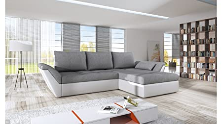 """New Stock - 2015 Model - BMF """"FLY"""" - Corner Sofa Bed - Faux Leather Fabric - Right Facing - GOOD PRICE !!!"""