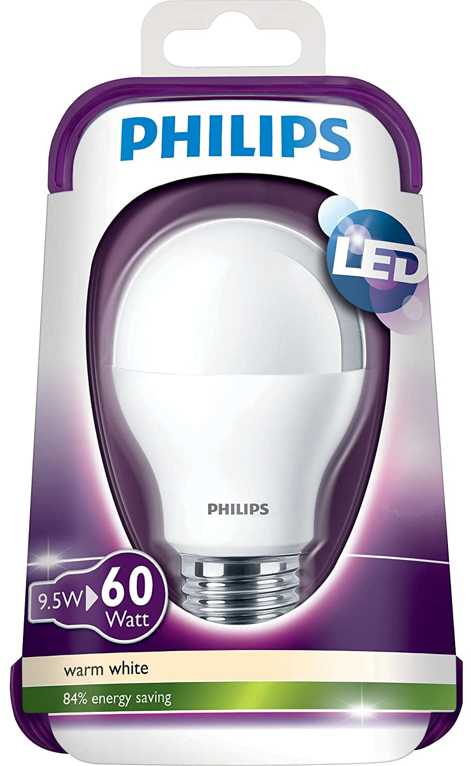 Philips Led Goccia 9,5W-60W E27