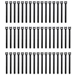 Pasow 50pcs Reusable Fastening Adjustable Cable Ties Wire Management (7 Inch, Black) (Color: Black, Tamaño: 7 Inch)