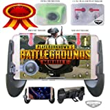 Mobile Game Controller(Upgraded Version) Gamepad for PUBG-Fortnite-Knives Out-Rules of Survival|Shooting and Aiming Triggers|L1 & R1 for iPhone iOS & Android Mobile, Joystick & Gaming Grip. (Color: Black Game pad | Clear with Red L1/R1 Trigger)