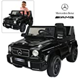 Official Licensed Mercedes Benz Ride On Car with Remote Control for Kids | 12V Power Battery AMG G63 Kid Car to Drive with 2.4G Radio Parental Control Black (Color: Black)