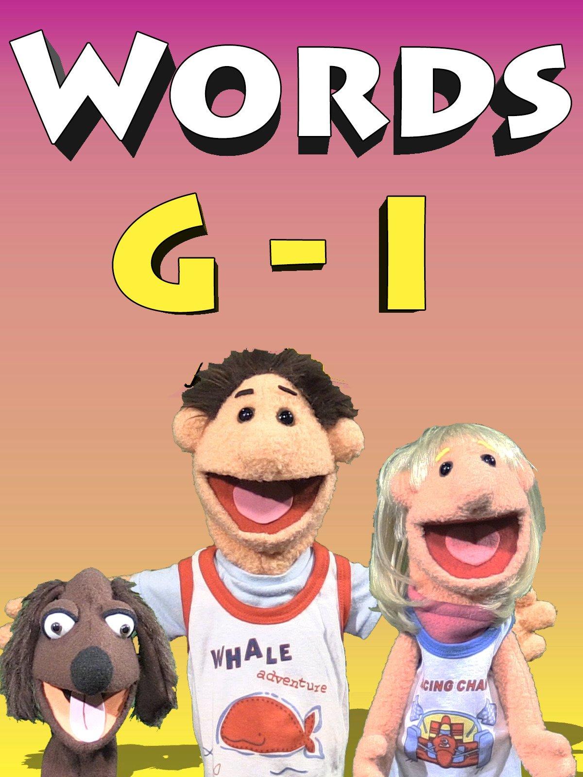 Words G on Amazon Prime Video UK