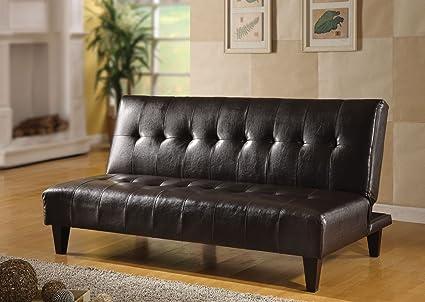 Acme 05638C Conrad Adjustable Sofa, Espresso Bycast Polyurethane Finish