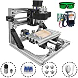 Mophorn Cnc Machine 1610 Grbl Control Cnc Router Kit 3 Axis Pcb Laser Engraver 160X100X40Mm With 5500mW Laser Head Module And Lamp (Tamaño: 160x100mm)