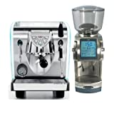 Nuova Simonelli Musica Lux POUR OVER and Baratza FORTE AP Package (Color: Stainless Steel)