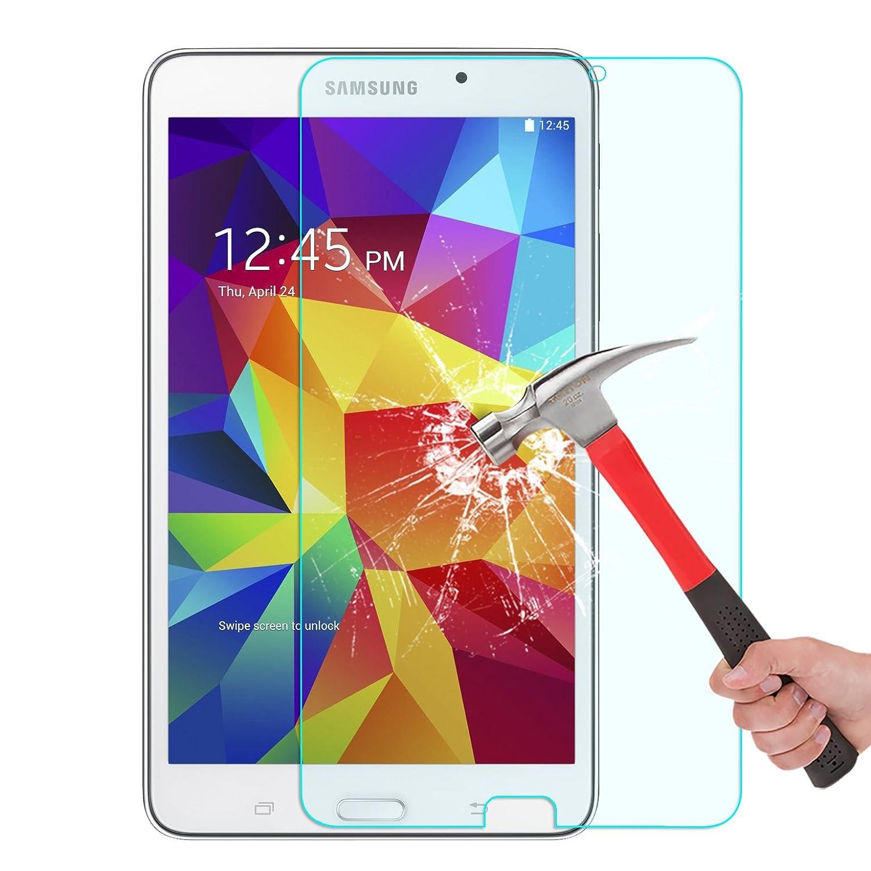 Samsung Galaxy Tab 4 7.0 Screen Protector, OMOTON Tempered Glass Screen Protector for Galaxy Tab 4 7-inch with (Anti Explosion) (9H Hardness) (High Definition) (Scratch Resist)(Lifetime warranty)