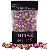 Rose Dose, USDA Organic Rose Bud Tea (2 oz) Culinary Grade (Infusions, Baking, Teas, Crafts) (Tamaño: Rose Buds (2oz))