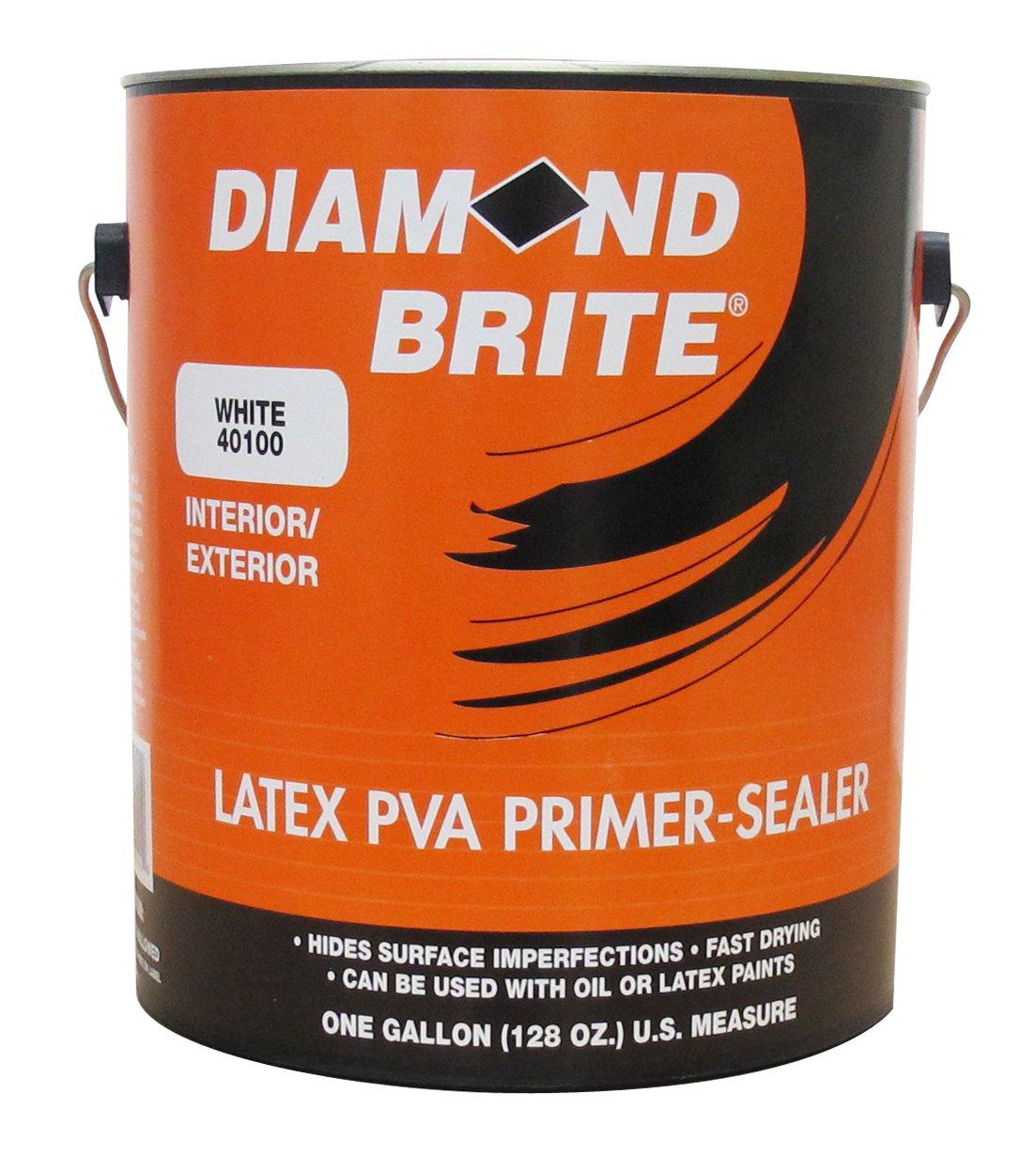 Diamond brite paint 40100 1 gallon interior exterior latex for Exterior latex primer