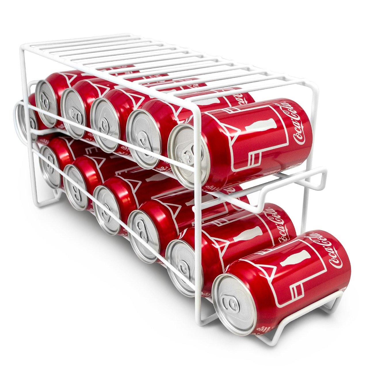 Refrigerator Soda Can Dispenser Beverage Holder Rack
