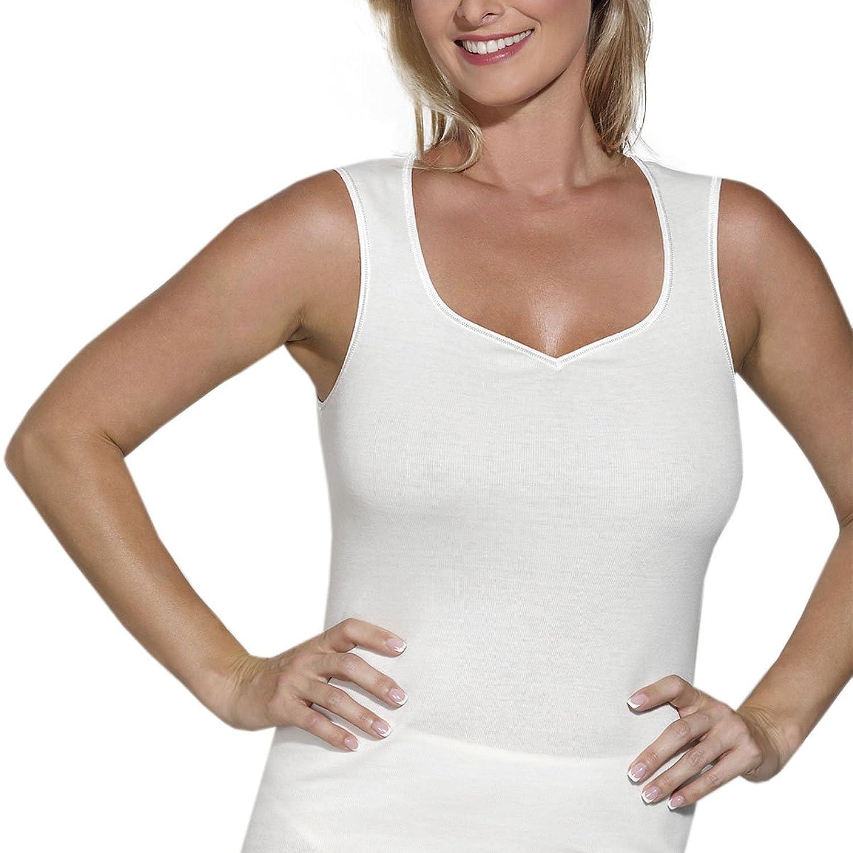 Ott-tricot Damen Achselhemd im 2-er Pack in Schaumkrone 100% Bio BW Gr.38 bis Gr.50 günstig online kaufen