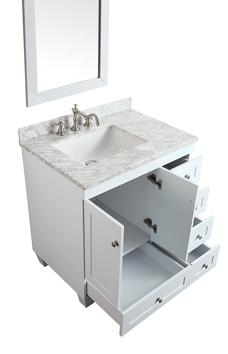 1000 ideas about 30 inch vanity on pinterest 30 inch - 30 inch white bathroom vanity with sink ...