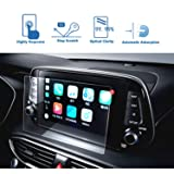 LFOTPP Car Navigation Screen Protector for 2019 Tucson 8-Inch, Tempered Glass 9H Hardness Audio Infotainment Display Center Touch Protective Film Scratch-Resistant (Color: 2019 8-Inch)