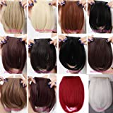 Harnod(TM) Girls Women's One Piece Hair Extensions Fashion Front Fringe Bangs Fringes 2 Clips In On Real Natural Synthetic Hair Extension (Color: BleachBlonde)
